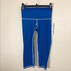 TEEKI Goddess Capri Workout Blue Workout Leggings
